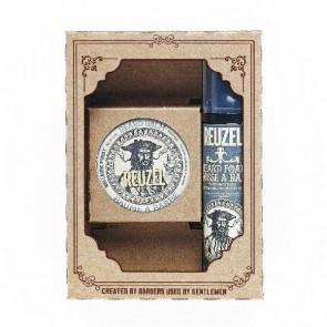 Kit per barba Reuzel kit groom and grow balm beard + foam